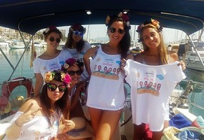 Stag & hen party in sailing boat in Palma de Mallorca. 3.5 hours trip